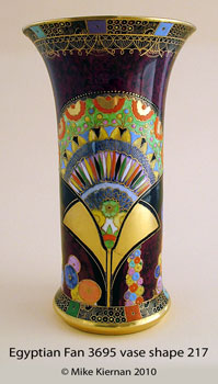 Egyptian Fan 3695 vase shape 217