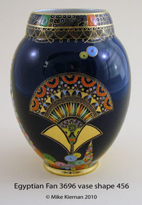 Egyptian Fan 3696 vase shape 456.