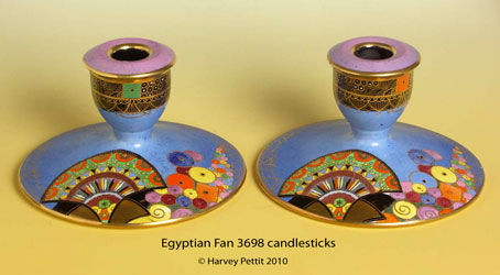 Egyptian Fan 3698 candlesticks.