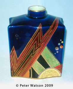 Carlton Ware JAZZ 3361 tea caddy