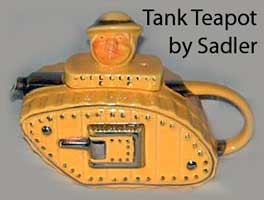 Sadler Old Bill tank teapot
