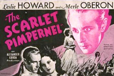 The Scarlet Pimpernel film poster 1934.