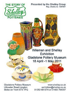 Shelly Potteries exhibition poster