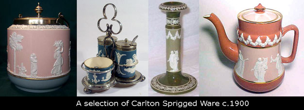 A selection of Carlton Spriggee Ware