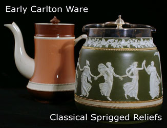 Early Catlton Ware - Classical Sprigged Reliefs