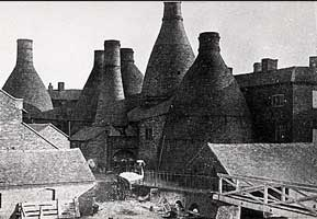 Spode's bottle kilns, long demolished
