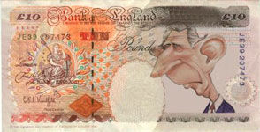 Fake Ten Pound note