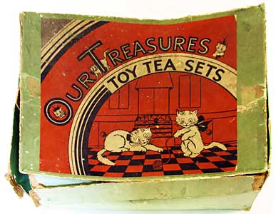Box for CAT SERIES Our Treasures Toy Tea Set by Wiltshaw & Robinson