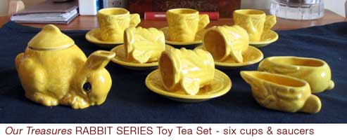Boxed Our Treasures Toy Tea Set - RABBIT SERIES by Wiltshaw & Robinson