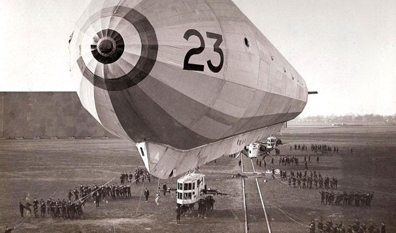 His Majesty's Airship 23 at Pulham St Mary, Norfolk in 1917.