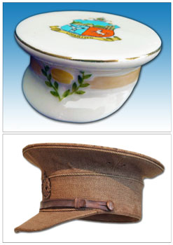 Carlton China model of a Service Dress Cap.
