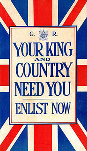 WW1 Patriotic Recruiting poster 1914.